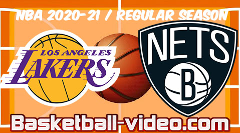 Los Angeles Lakers vs Brooklyn Nets Full Game Replay & Highlights 10.04.2021